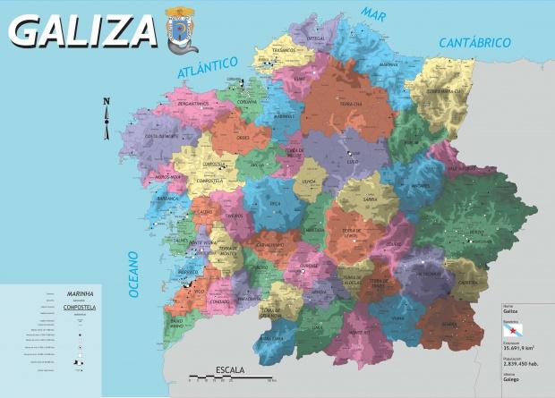Mapa de Comarcas de Galicia