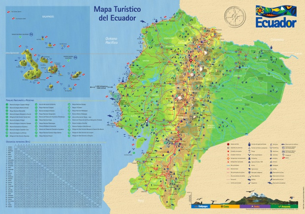 Tourist map of Ecuador 2006