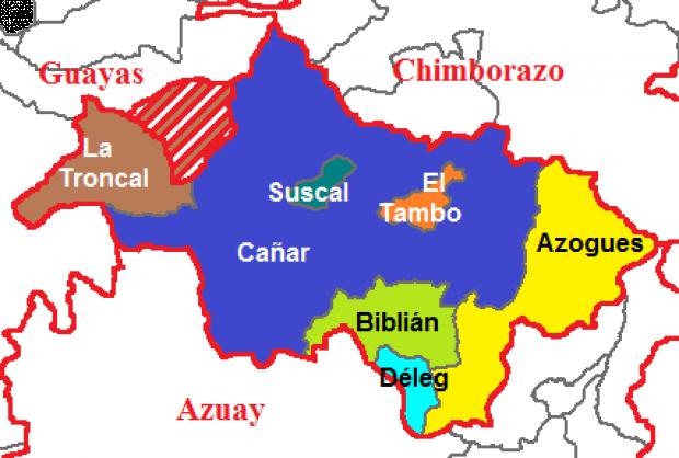 Cantones de Cañar 2011