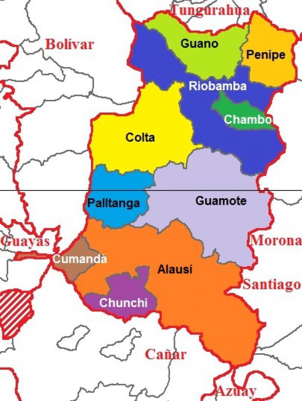 Cantones de Chimborazo 2011