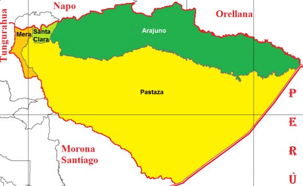 Cantones de Pastaza 2011