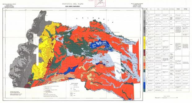 Mapa morfo-edafológico de Napo 1983