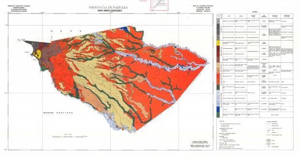 Mapa morfo-edafológico de Pastaza 1983