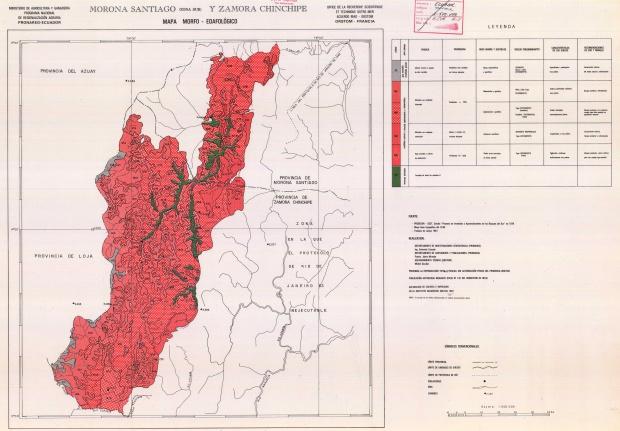Mapa morfo-edafológico de Morona Santiago (zona sur) 1983