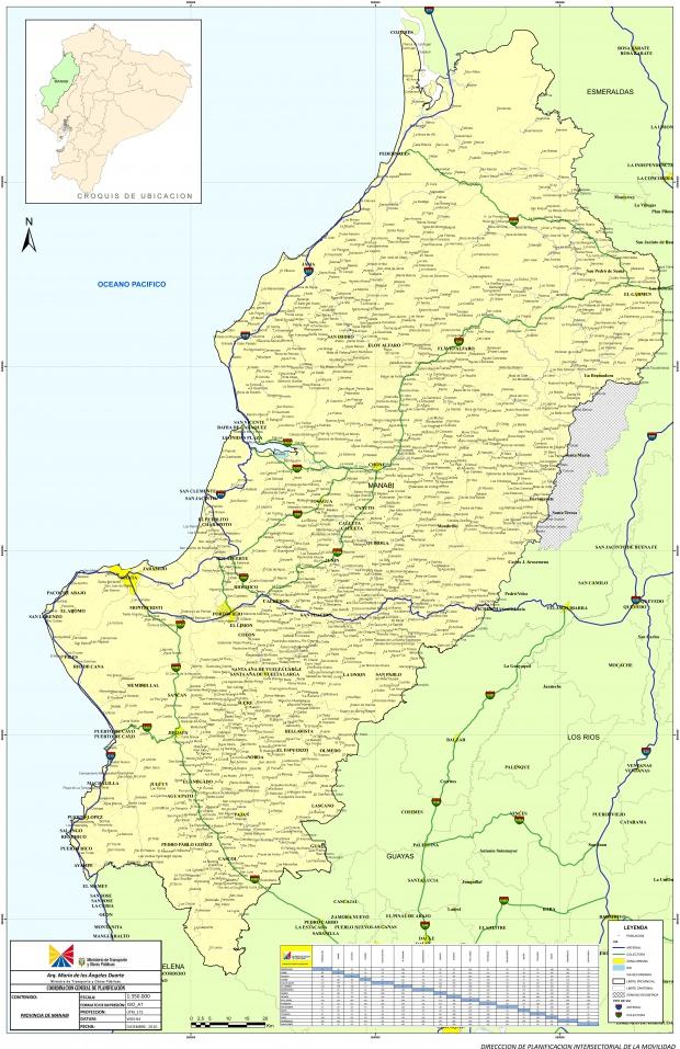 Mapa de Manabí 2010
