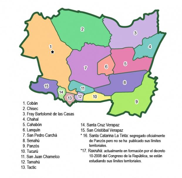 Municipios de Alta Verapaz