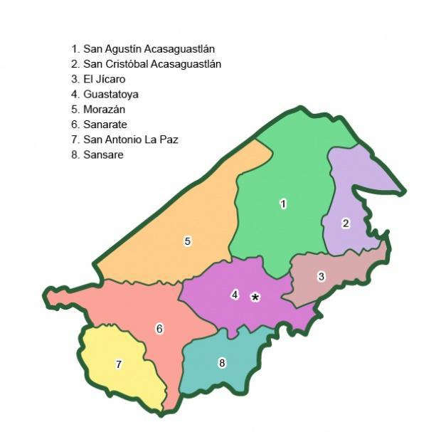 Municipios de El Progreso
