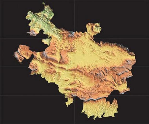Mapa físico de Álava