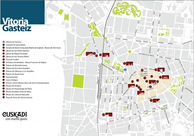 Tourist map of Vitoria-Gasteiz