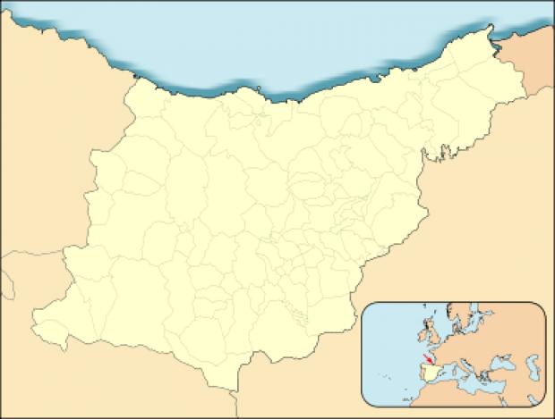 Mapa de localización de Guipúzcoa
