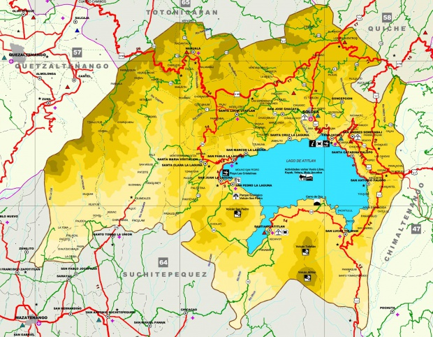 Mapa de Sololá