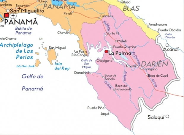 Mapa de Darién