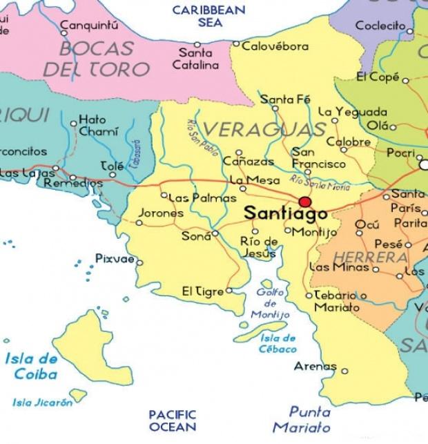 Mapa de Veraguas