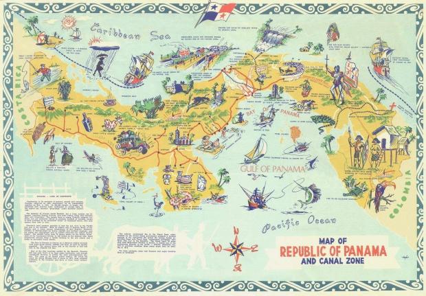 Mapa turístico de Panamá