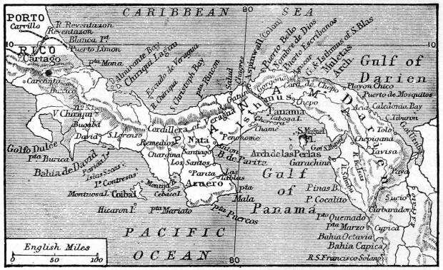 Mapa de Panamá 1906