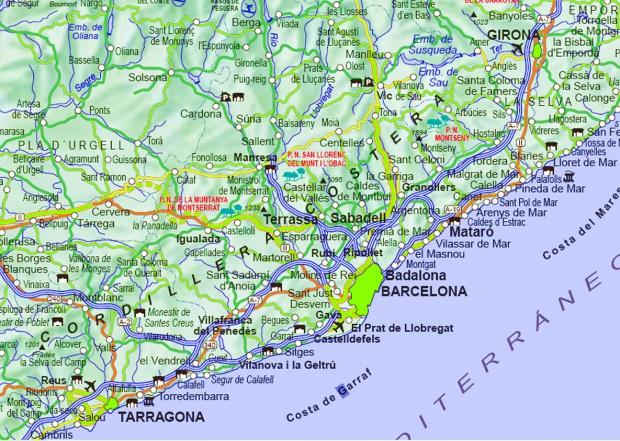 Carreteras de acceso de Barcelona