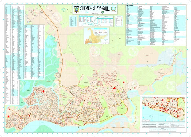 Map of Guayaquil 2011
