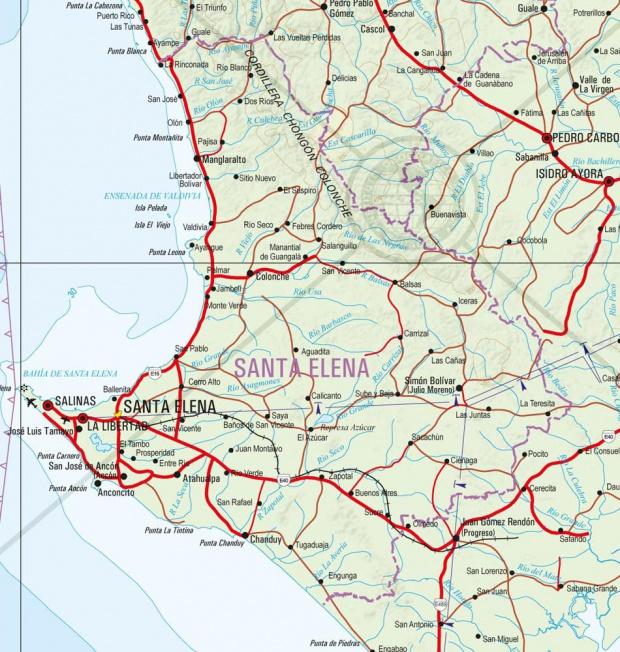 Mapa físico de Santa Elena 2011