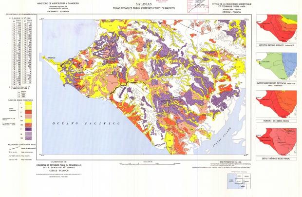 Zonas regables en la región de Salinas 1978