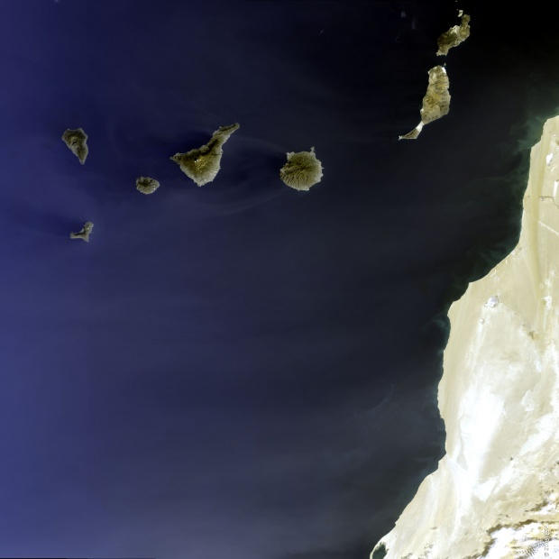 Satellite image of the Canary Islands 2005