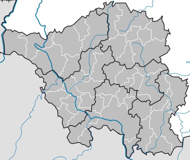 Mapa Mudo de Municipios en el Sarre 2009