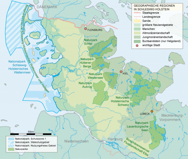 National and natural parks in Schleswig-Holstein 2007