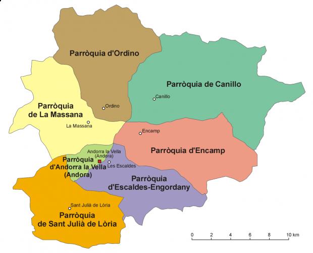 Andorra seven parishes