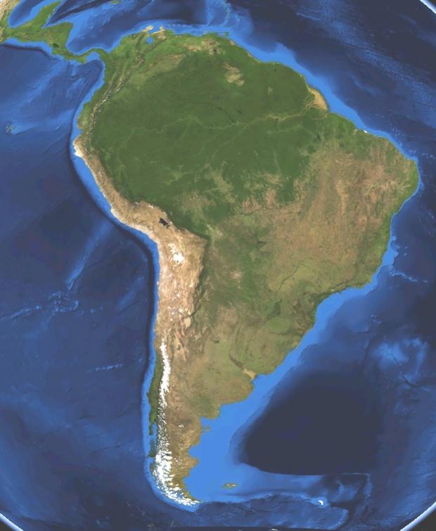 América del Sur, también llamada Sudamérica o Suramérica