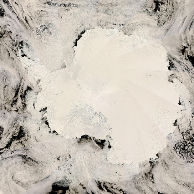 Satellite image, photo of Antarctica