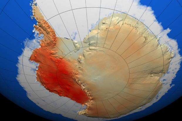 Antarctica warming trend