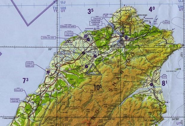 Carta Aeronáutica del Norte de Taiwán