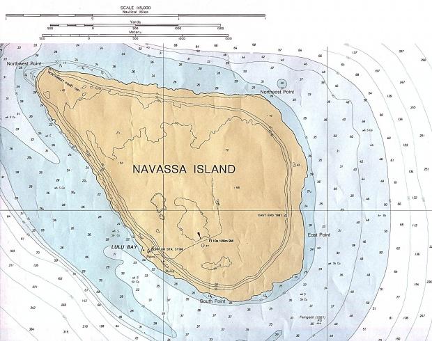 Carta Náutica de Isla Navaza