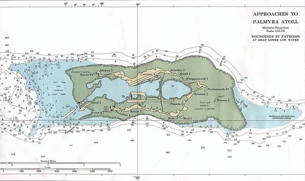 Carta Náutica del Atolón Palmyra, Estados Unidos