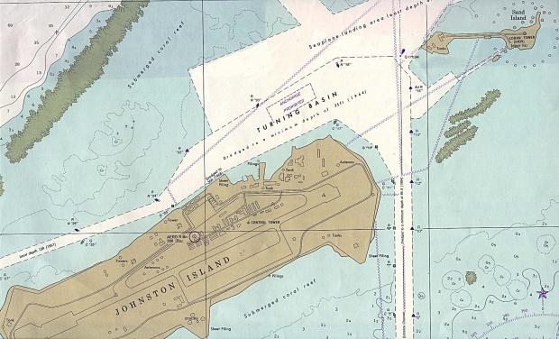 Carta Náutica del Puerto del Atolón Johnston
