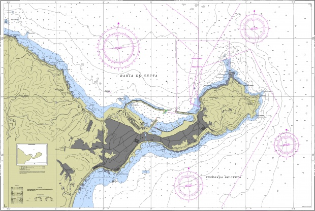Bahia de Ceuta nautical chart