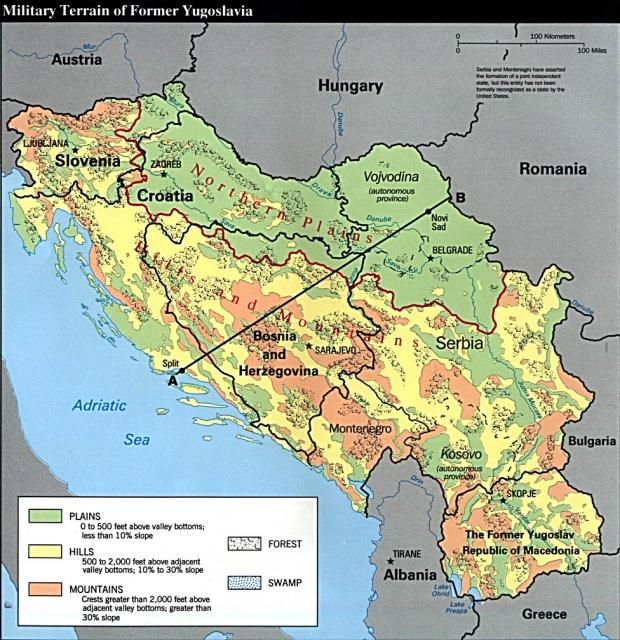 Cartografía Militar de Bosnia y Herzegovina