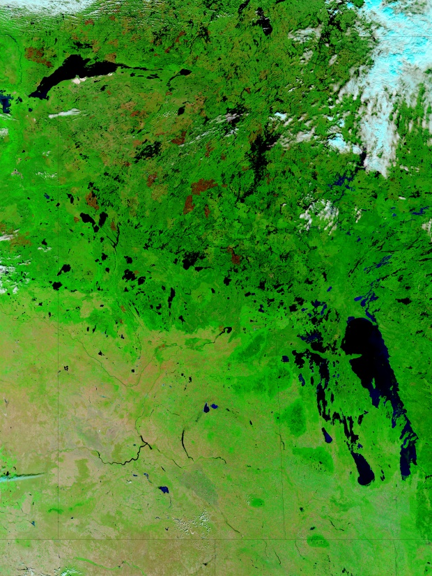 Cicatrices de fuegos en Saskatchewan, Canadá