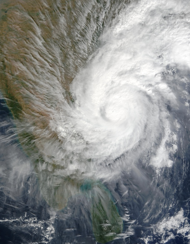 Tropical Cyclone 03B over India