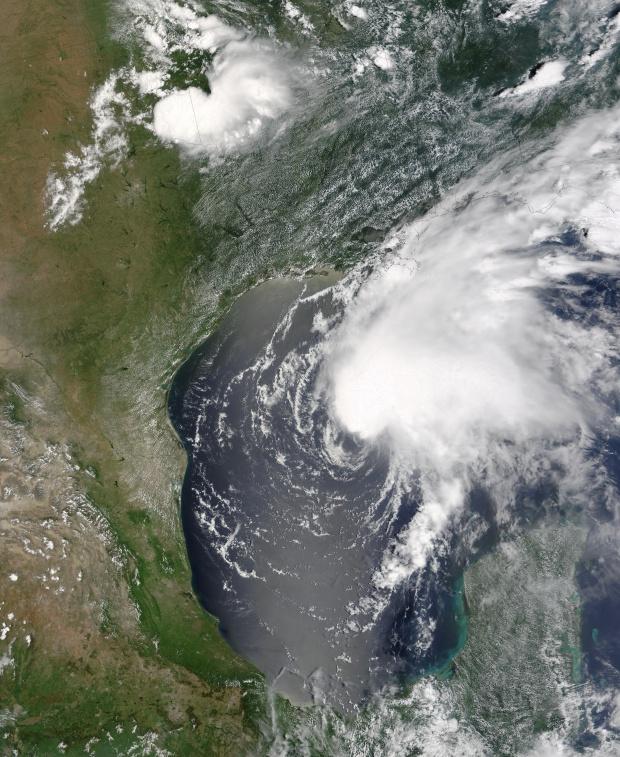 Ciclón tropical Claudette, golfo de México