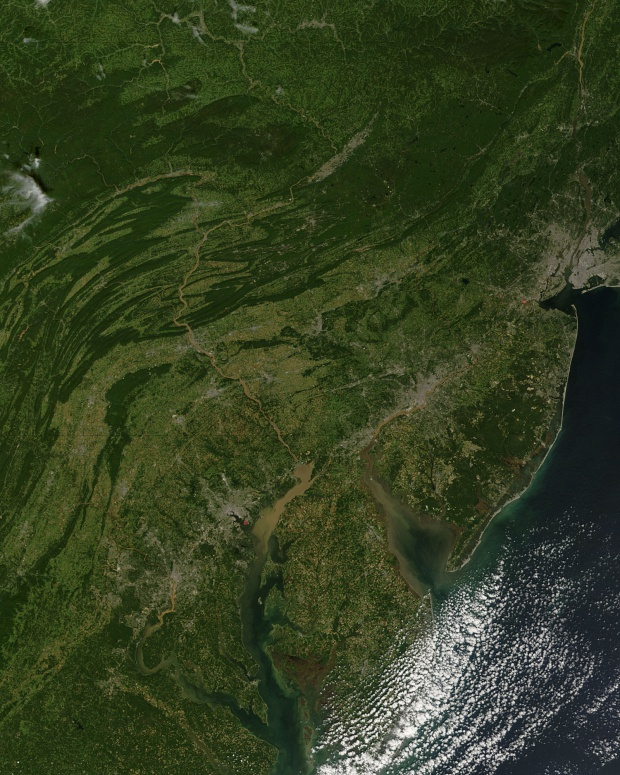 Silt in the Mid-Atlantic states