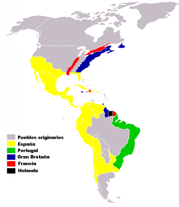 European colonies in America XVI-XVII