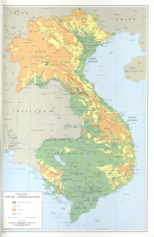 Indochina Surface Configuration Map, October 1970