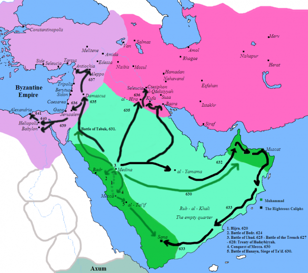 Conquests of Muhammad and the Rashidun 630-641