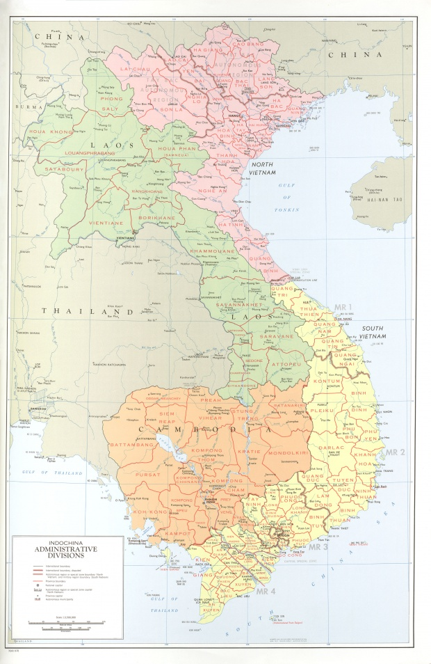 Indochina Administrative Divisions Map