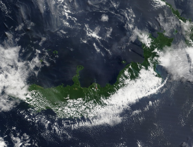 Eruption of Mount Pago Volcano, Papua New Guinea