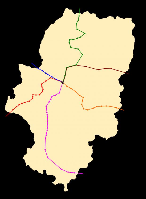 Ferrocarril en Aragón 2009