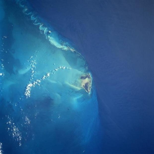 Foto, Imagen Satélite de la Isla Bimini, Bahamas