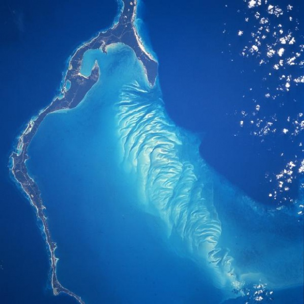 Satellite Image, Photo of Eleuthera Island, Bahamas