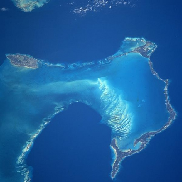 Satellite Image, Photo of New Providence and Eleuthera Islands, Bahamas