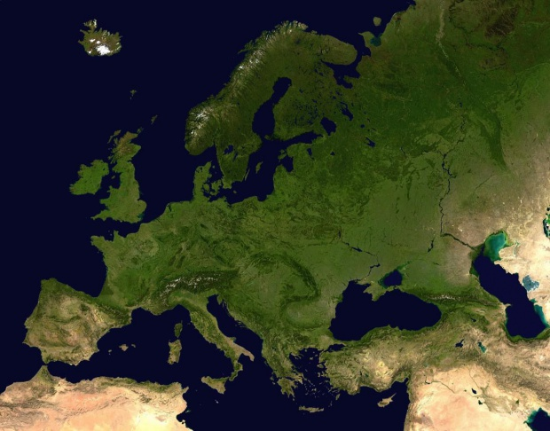 Satellite photograph of Europe 2005